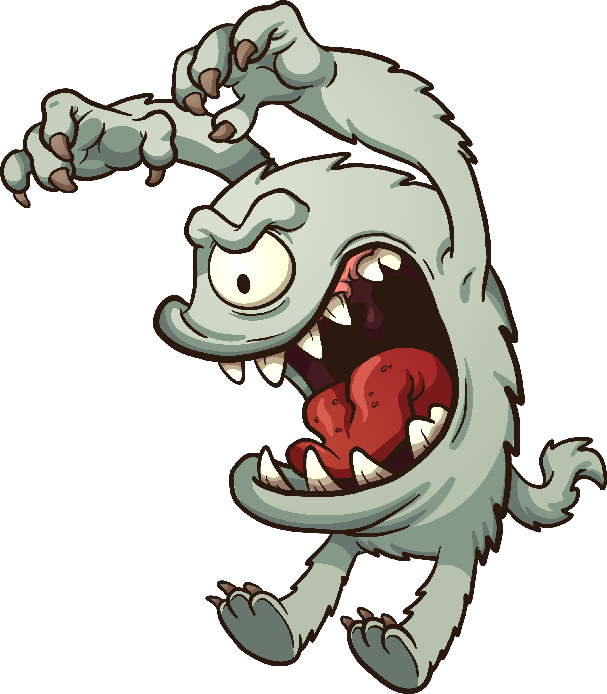 clipart royalty free library Monster cartoon png