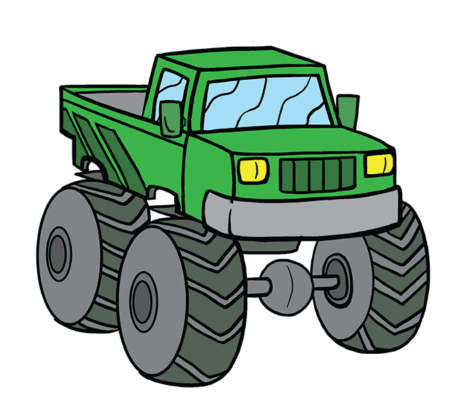 picture library library Monster Truck Drawing at GetDrawings