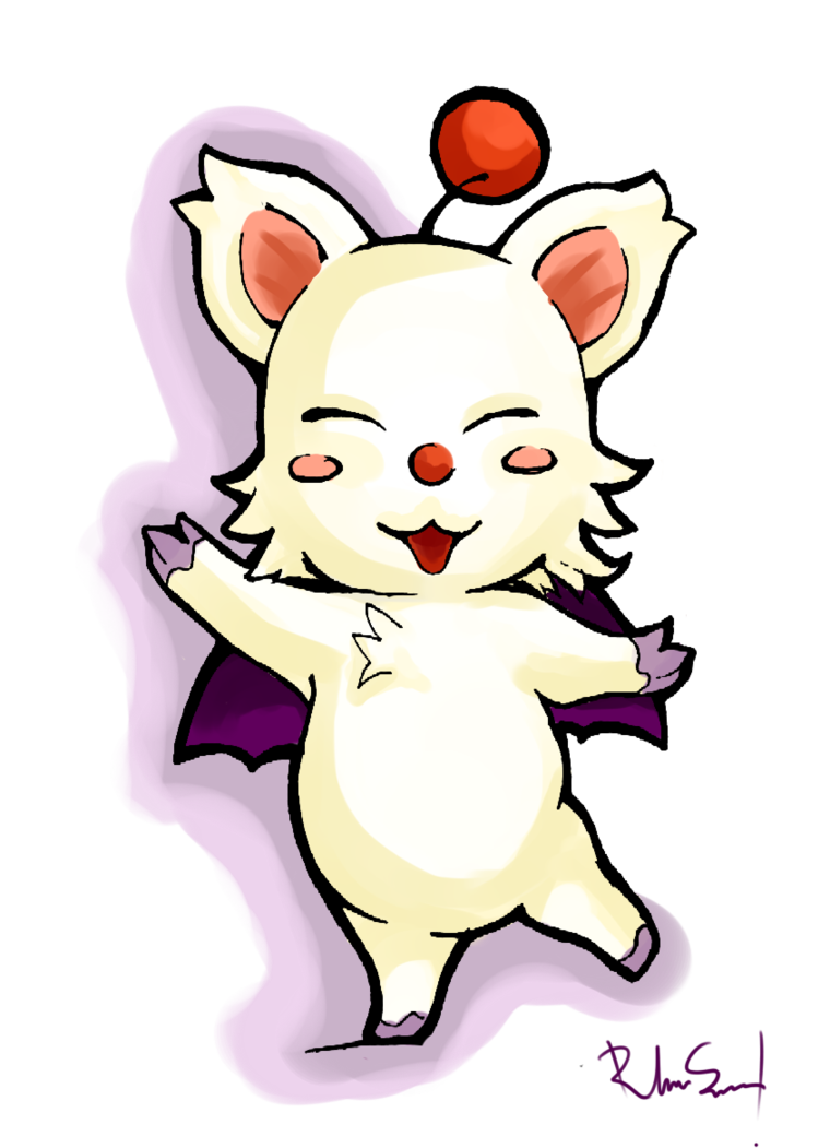 clipart transparent happy moogle by Kyo