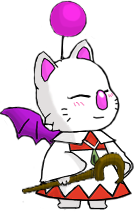 picture black and white library Kiki the White Mage Moogle by Lyra