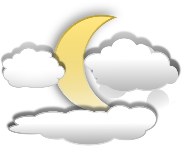 clip art Moon And Clouds Clip Art at Clker