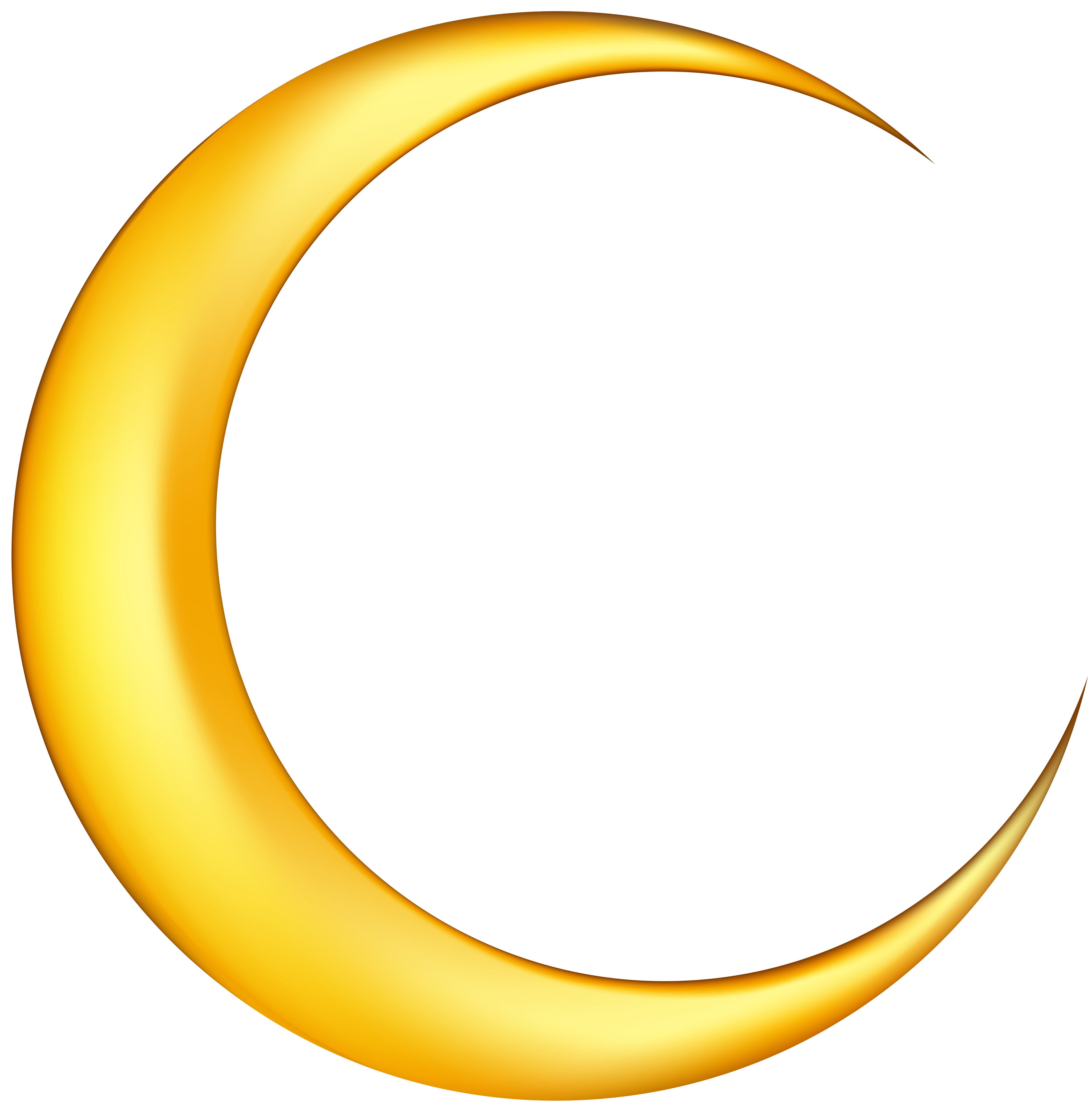 vector black and white Moon clipart. Yellow new png clip