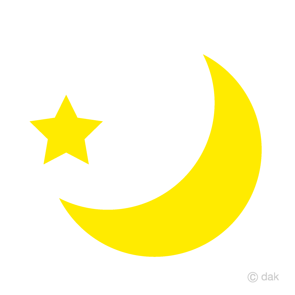 graphic Crescent and star free. Moon clipart