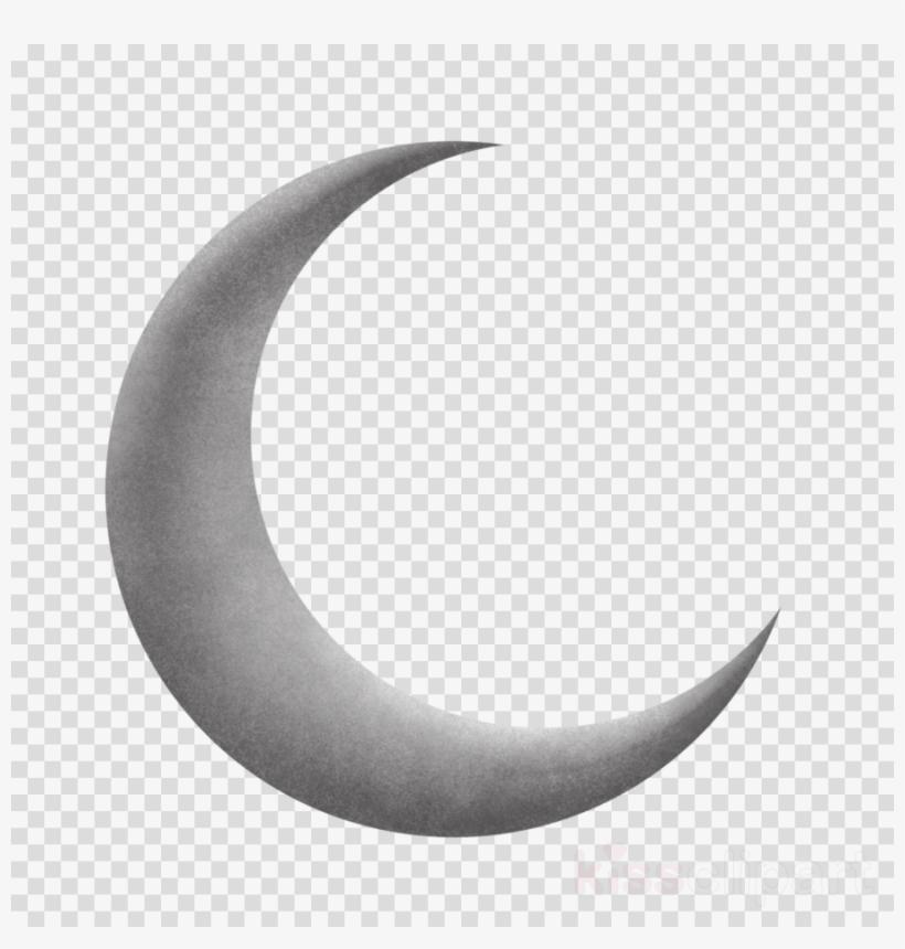 clip art freeuse library Half png hd clip. Moon clipart transparent.