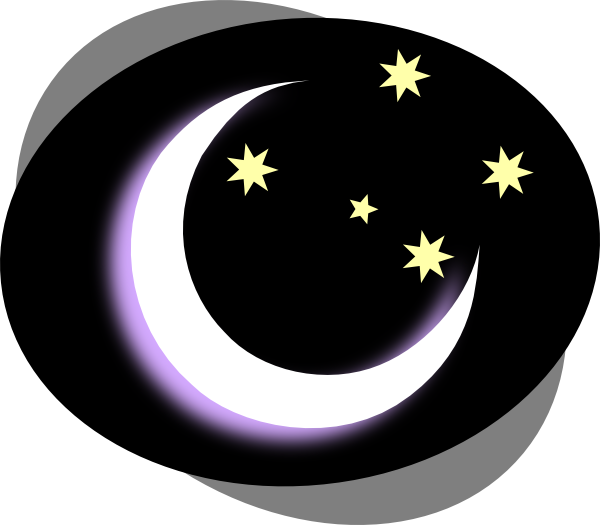 png transparent library Black moon clip art. Night clipart.