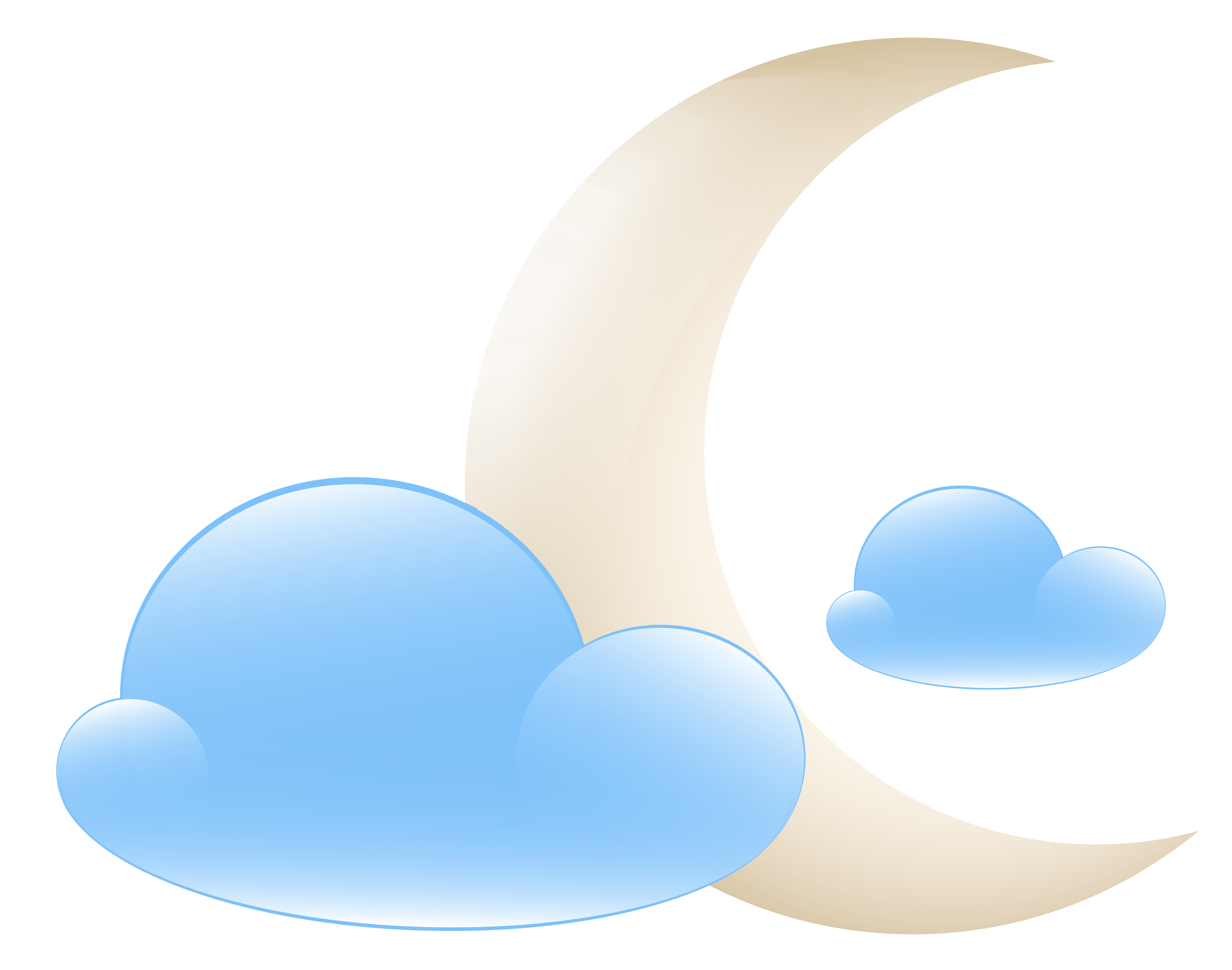 jpg freeuse download With clouds weather icon. Moon clipart sky clipart.