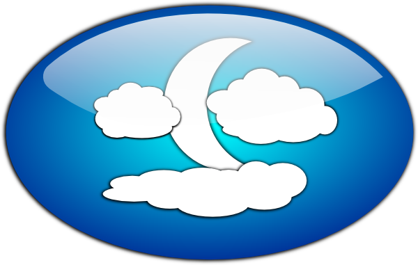 black and white library Moon clipart sky clipart. Clouds and the clip.