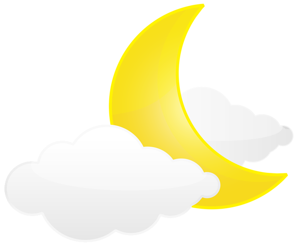 image free With clouds png clip. Moon clipart transparent