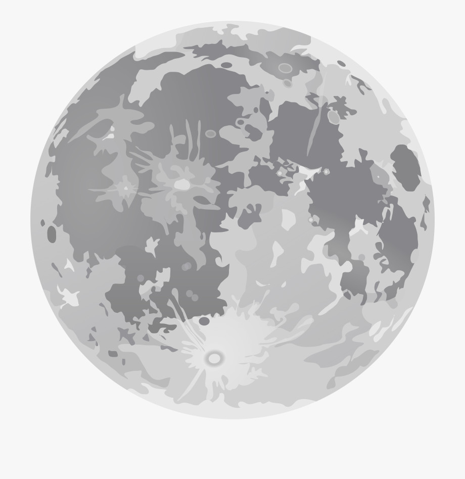 png black and white Moon clipart transparent. Background cartoon