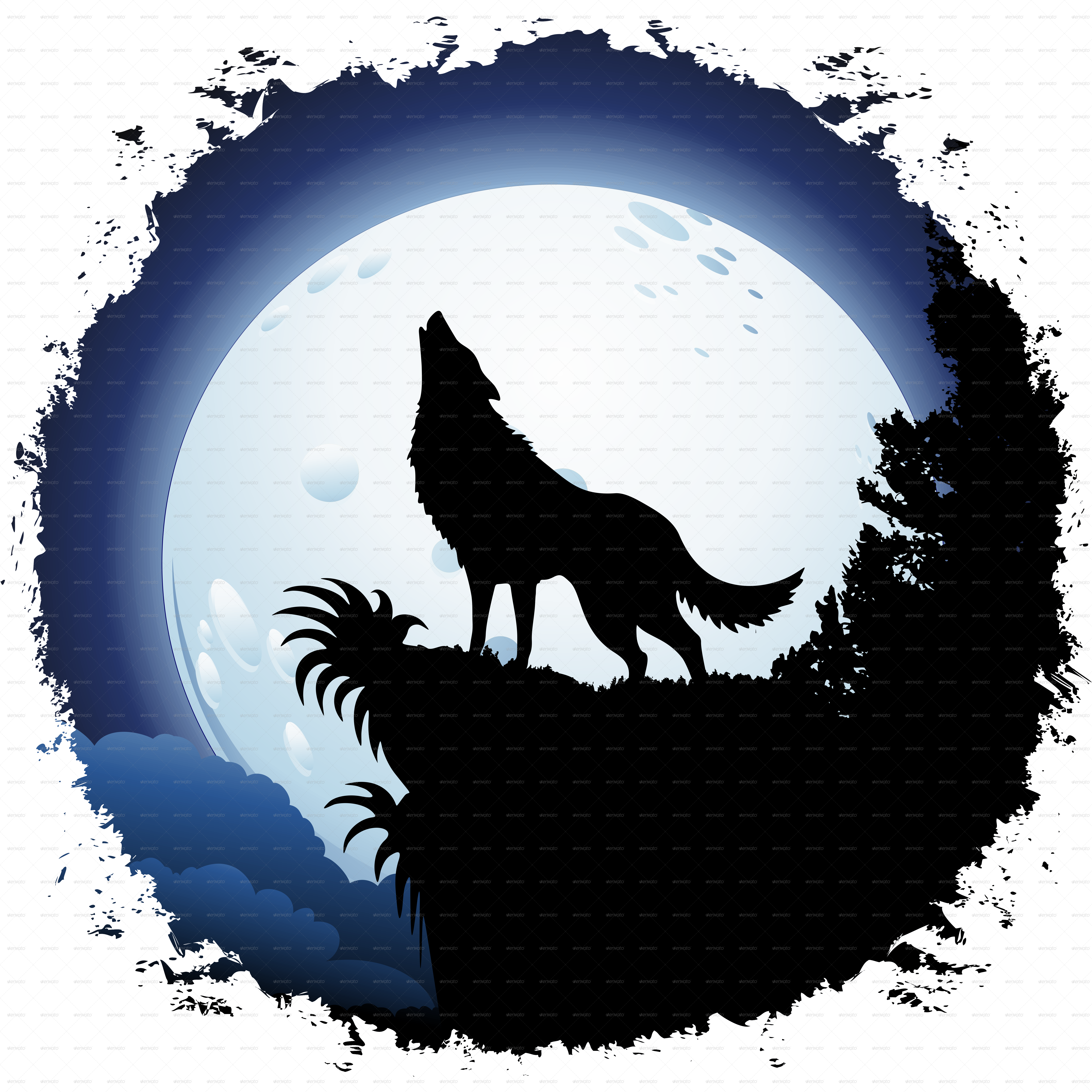 jpg transparent download Silhouette Of A Wolf Howling at GetDrawings