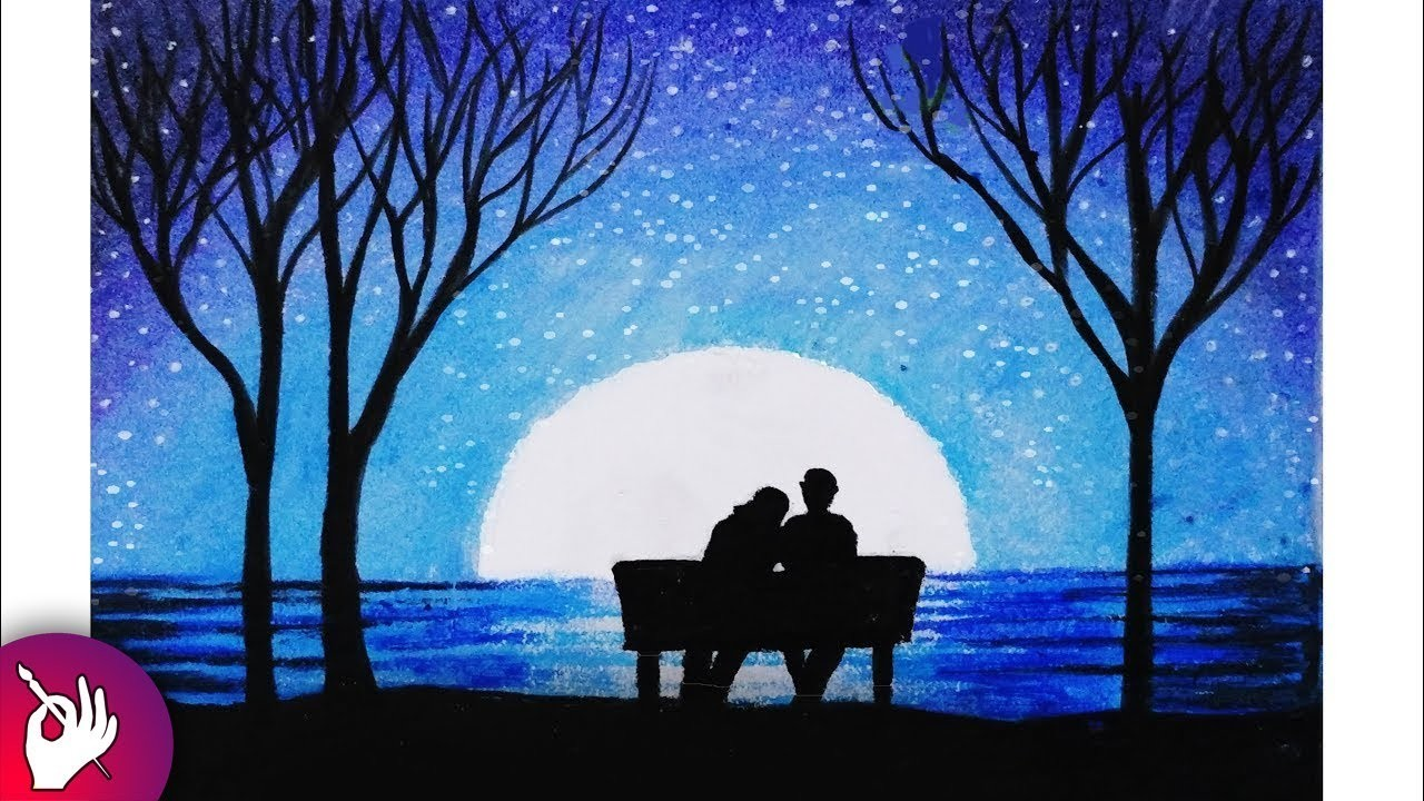 clipart transparent library Moonlight Drawing at PaintingValley