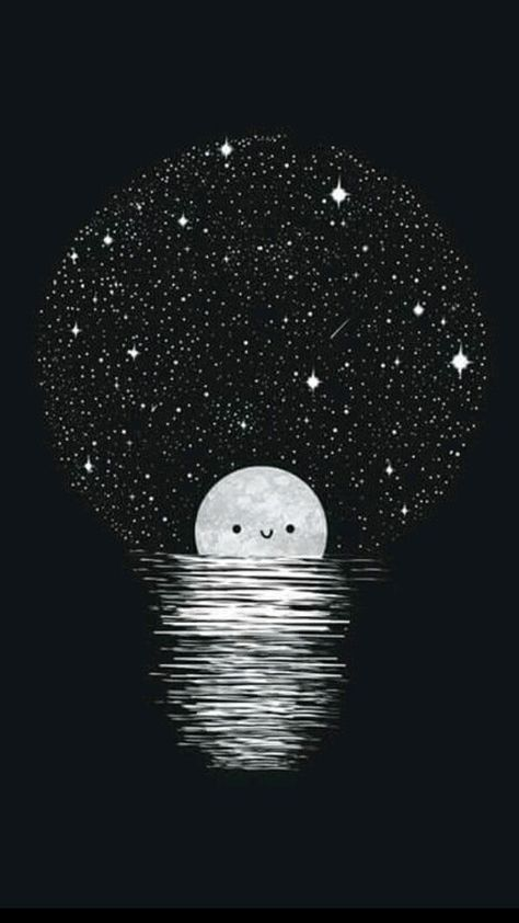 vector transparent stock Drawing moon and stars moonlight