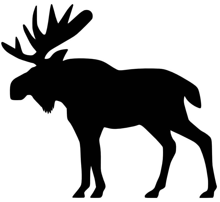 vector free stock Moose clipart. Cartoon free clip art.