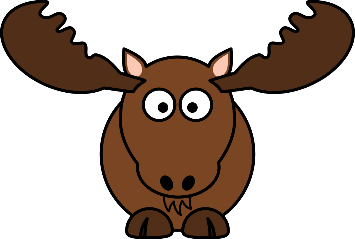 transparent Free wikiclipart . Moose clipart.