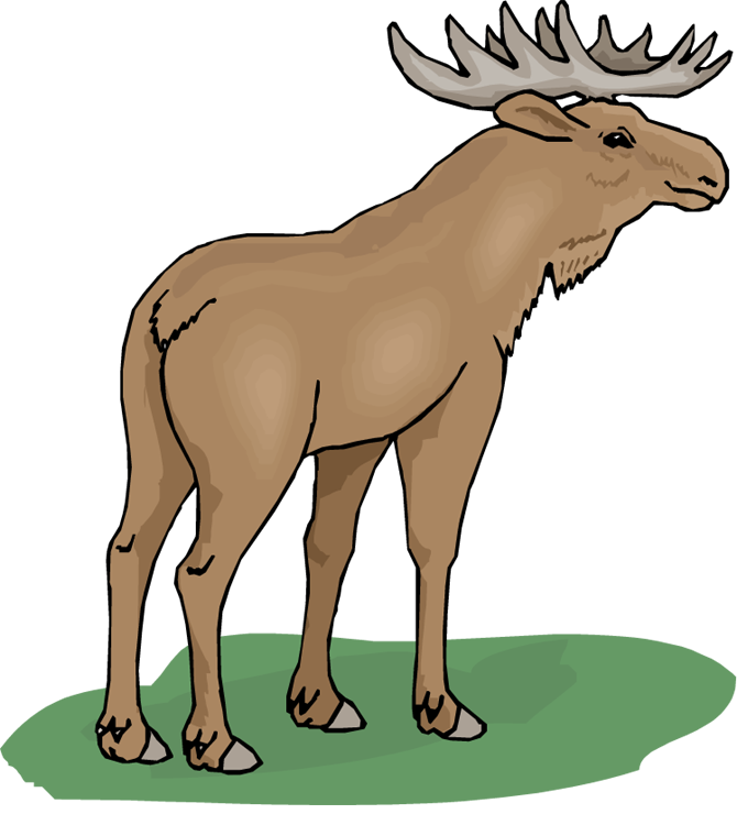 clip art transparent Free clipartix . Moose clipart.