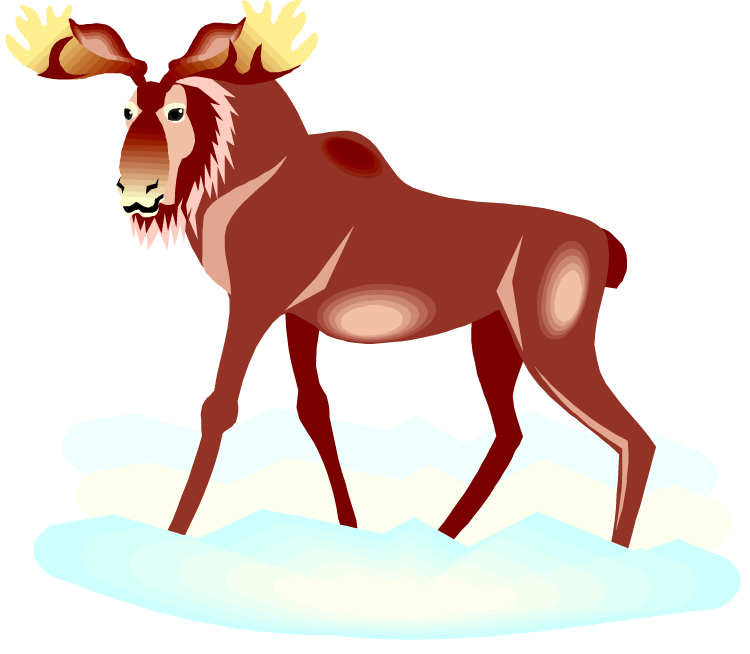 black and white library Moose clipart. Free.