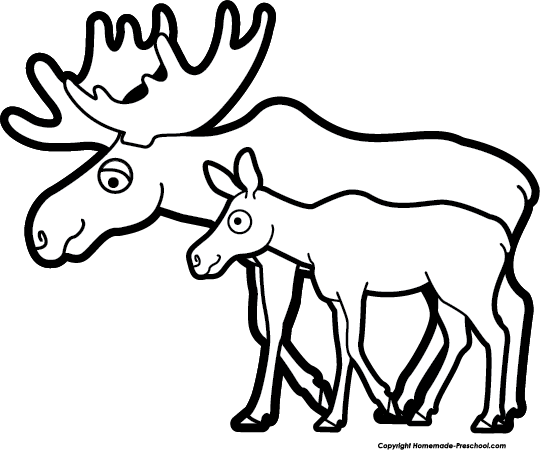 black and white download Moose clipart. Free clipartix .