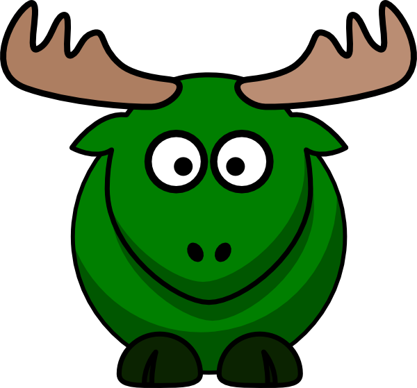 picture transparent library Moose clipart color. Green clip art at.