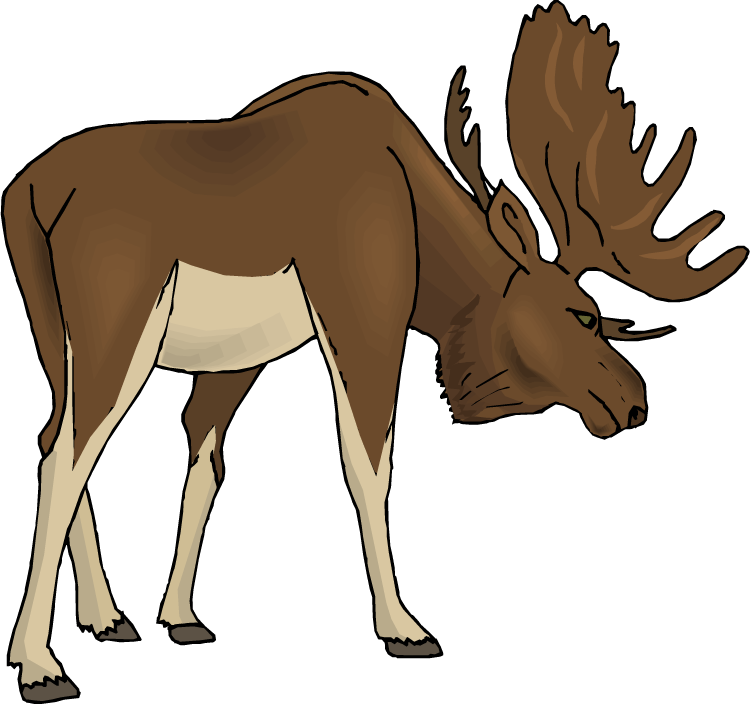vector library library Moose clipart cartoon free images
