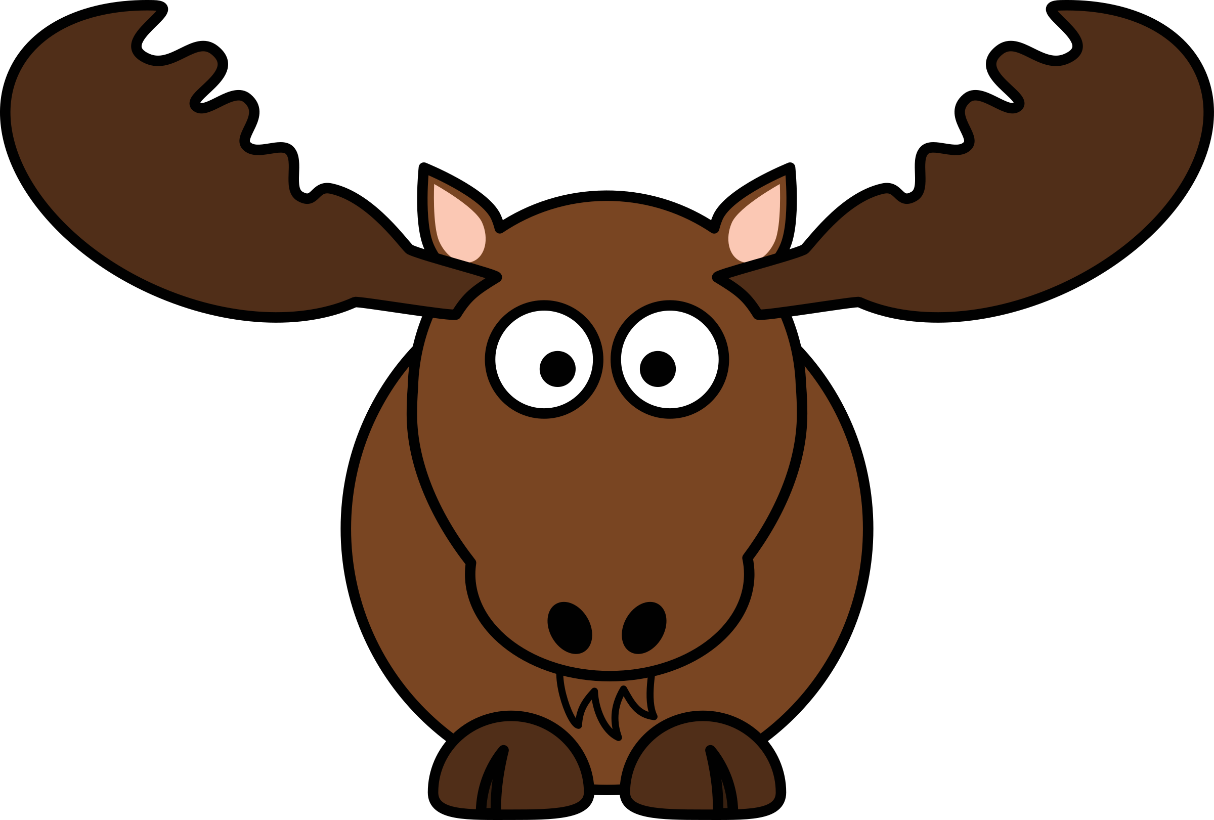 black and white library Moose clipart moose canadian. Cartoon big image png.