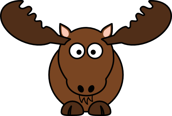 clip royalty free download Clip art free bay. Moose clipart simple cartoon.
