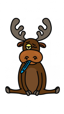 svg library download Moose clipart simple cartoon. How to draw a.