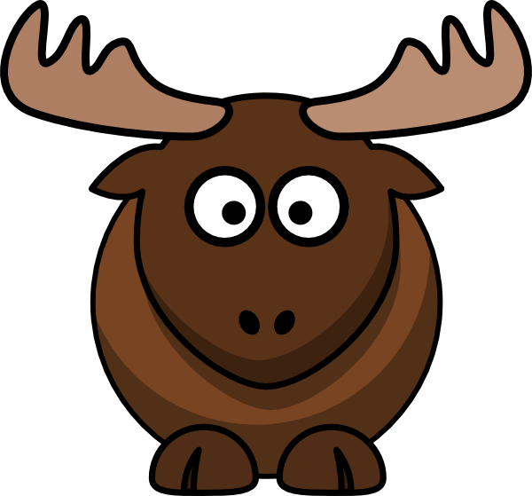 vector freeuse download Moose clipart thanksgiving. Pencil and in color.