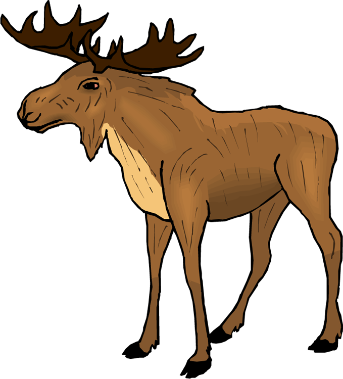 svg freeuse library Moose Clipart