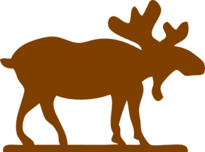 graphic library stock Big Brown Moose Clip Art at Clker