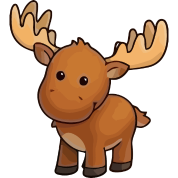 clip transparent library Cute Moose by Miracle Sapphire
