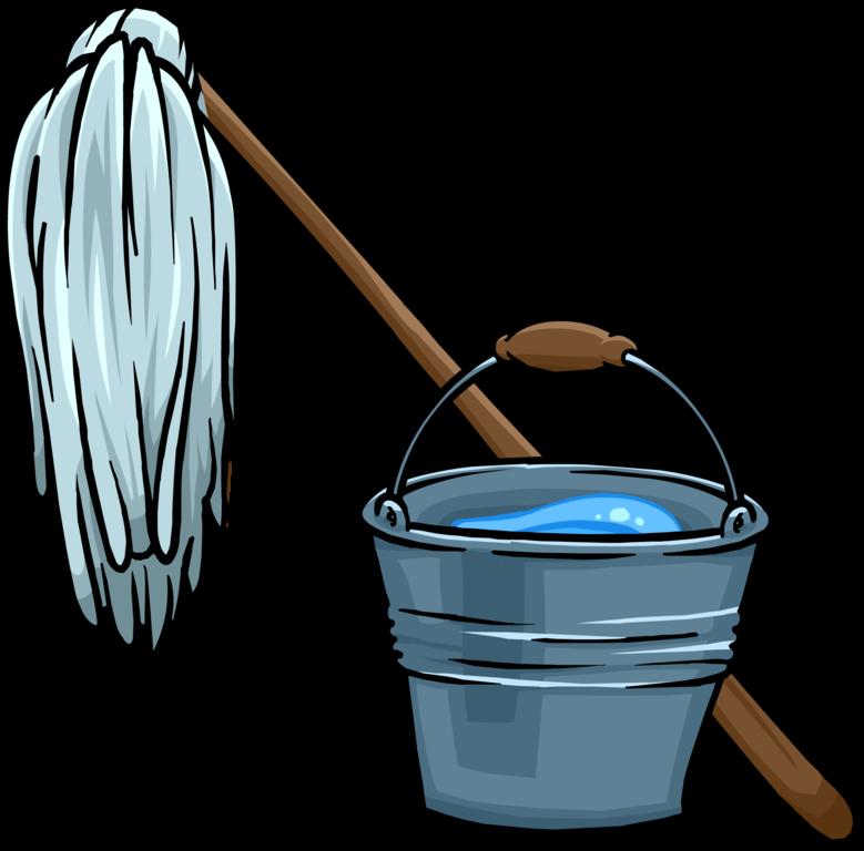clip art transparent mop vector bucket #114568146
