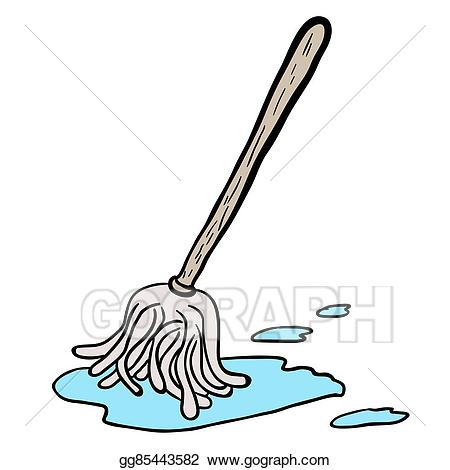 clipart download Mop clipart. Vector art freehand drawn.