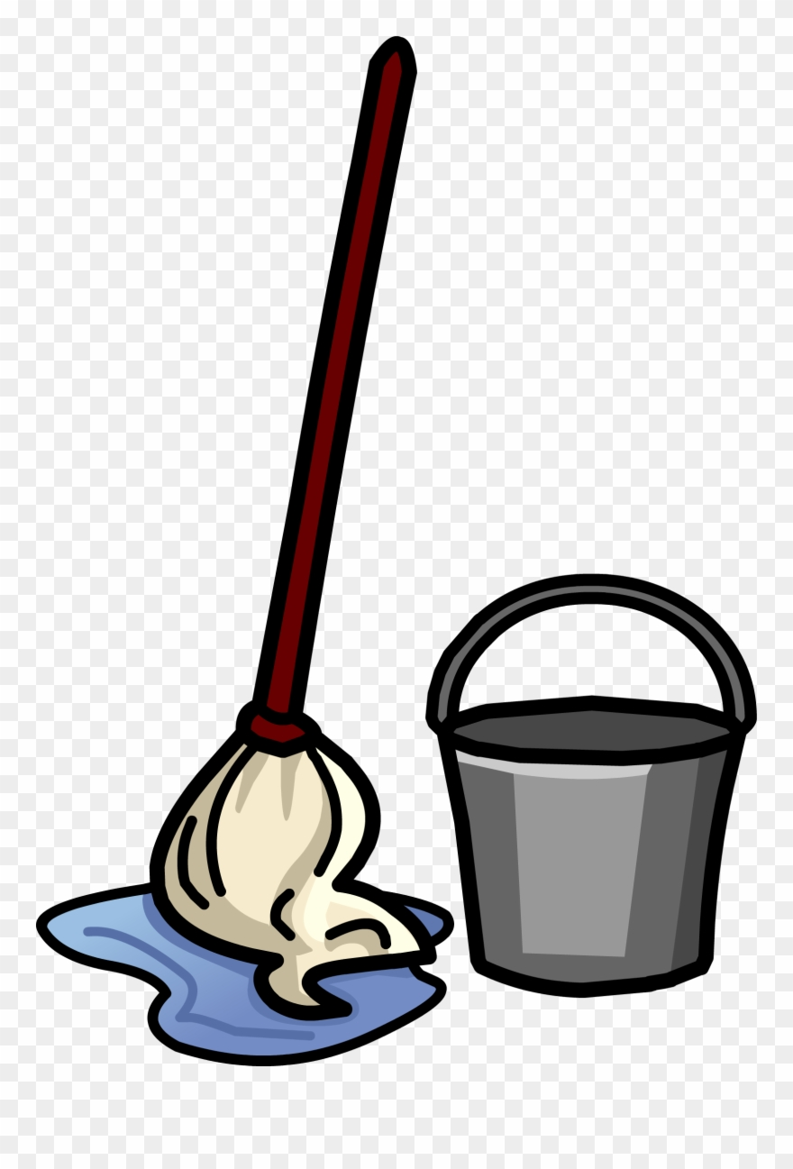 vector royalty free download Bucket broom janitor cleaning. Mop clipart.