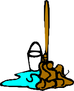 clipart royalty free Mop And Bucket Clip Art at Clker