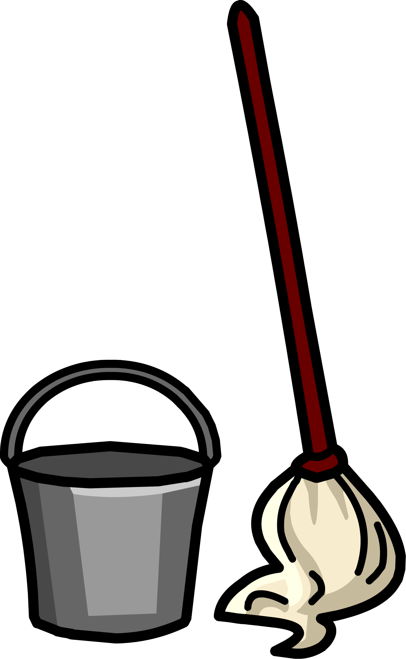 image free stock Image bucket sprite png. Mop clipart.