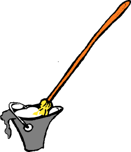 image royalty free library Mop clipart cute. And bucket clip art.