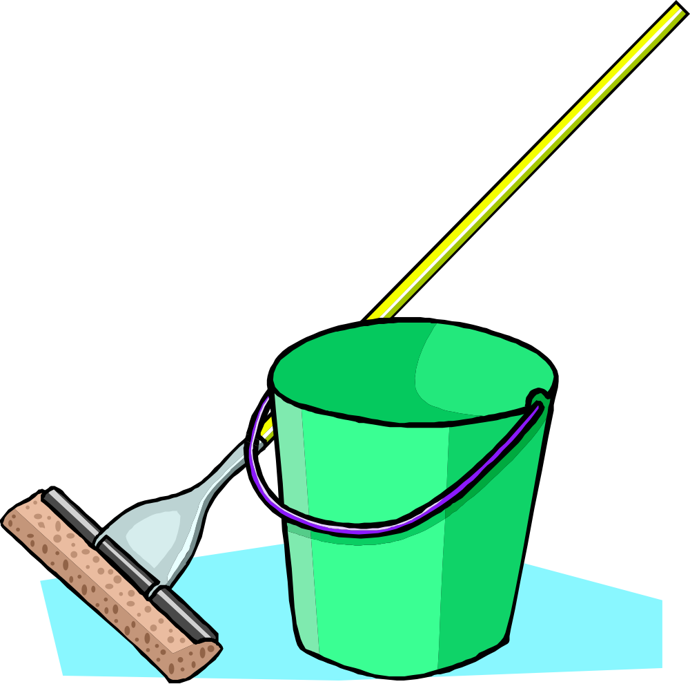 transparent library Mop Clipart
