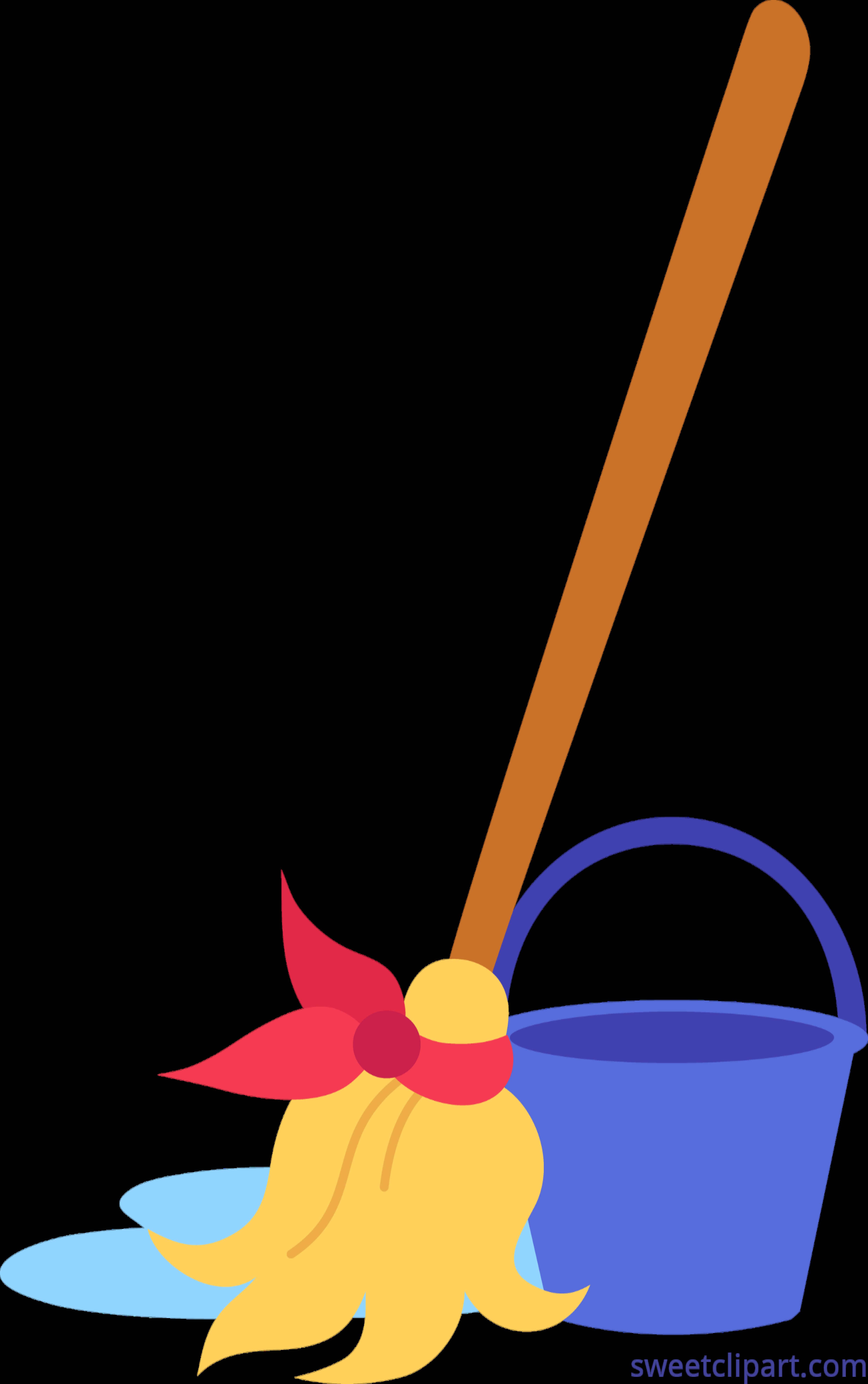 vector library Mop clipart. Bucket clip art sweet.