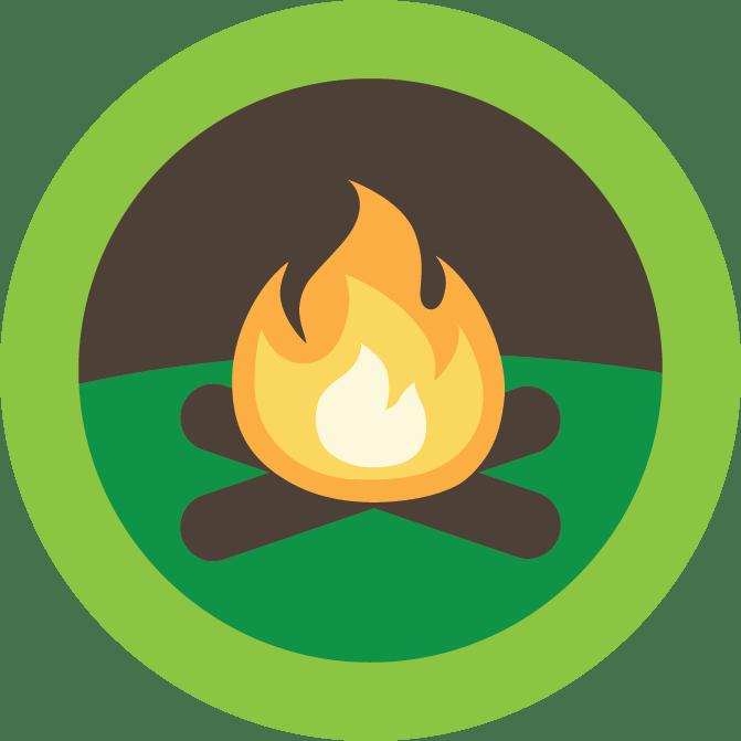 clip art stock Campfire Leader