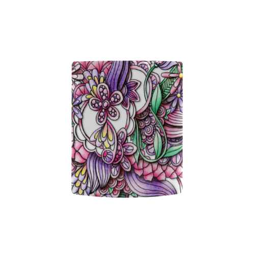 image transparent Pink Purple flower drawing Custom Morphing Mug