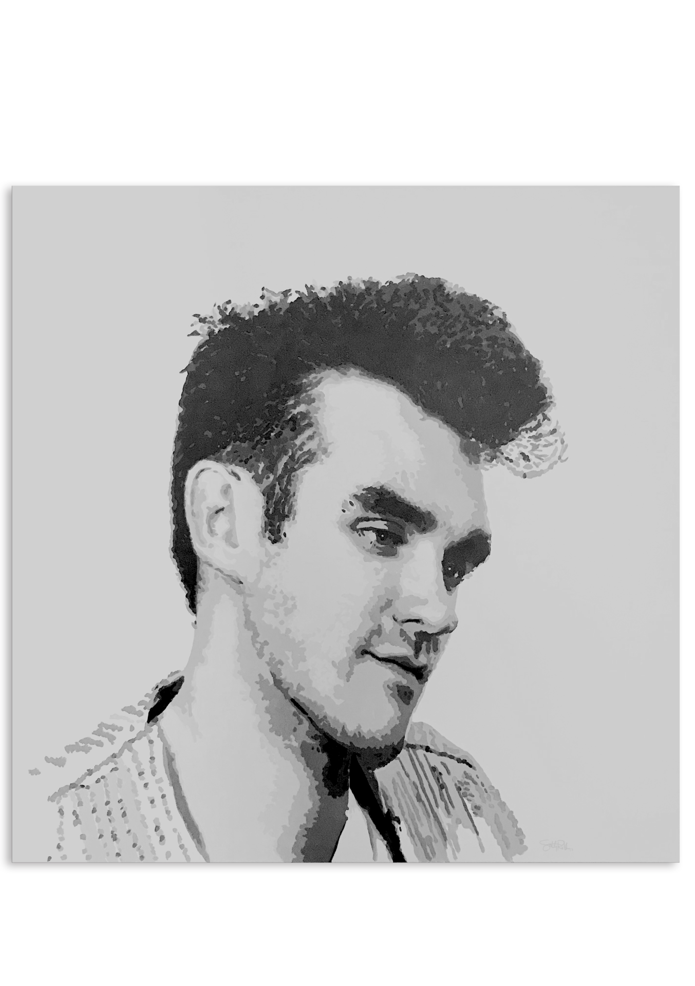 clip black and white library ORIGINAL MORRISSEY PAINTING