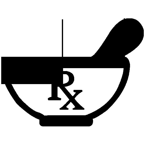 vector free download Rx symbol mortar pestle clipart image