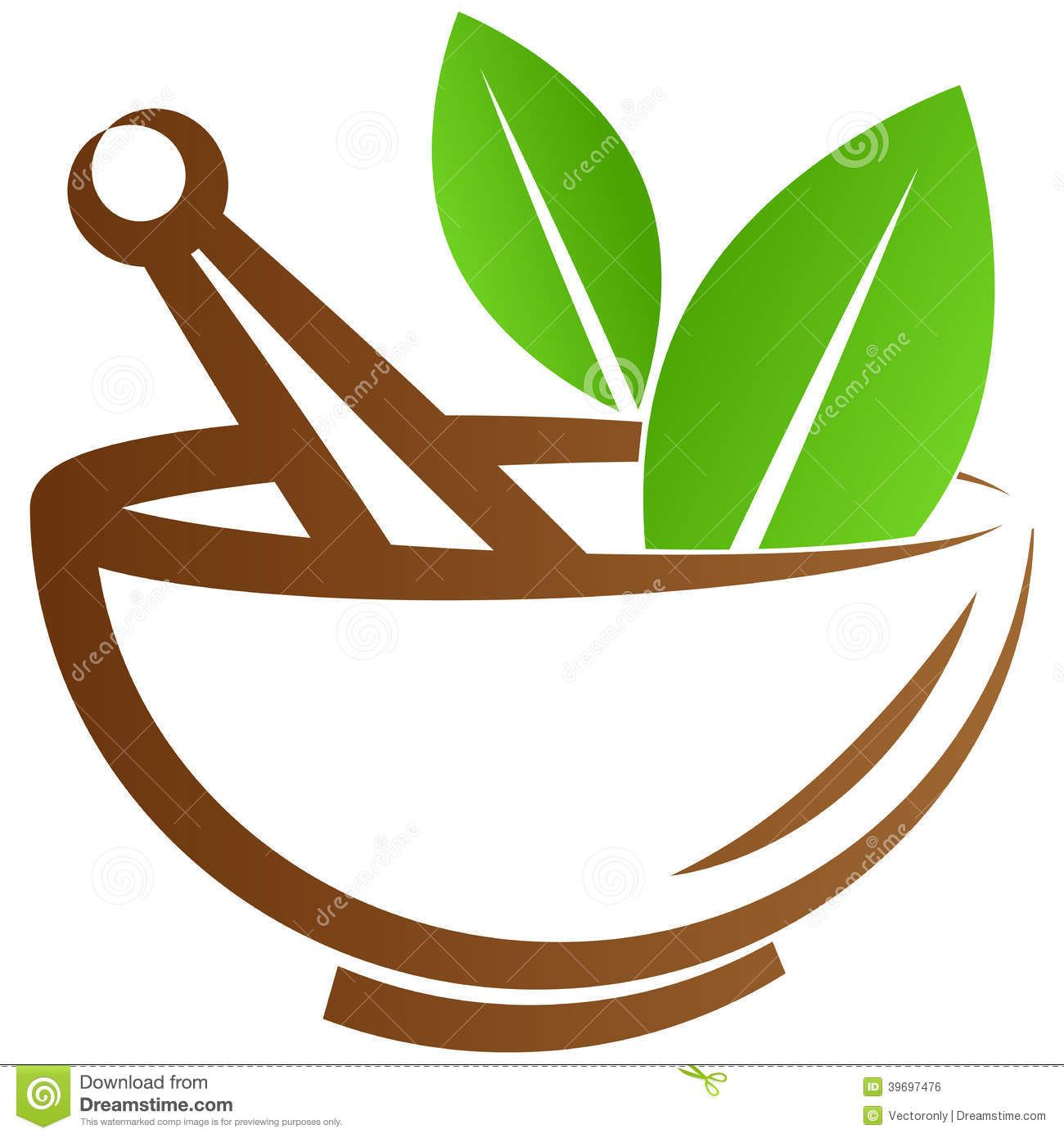 clipart black and white library Mortar and pestle clipart ayurveda symbol. With leaves in it.