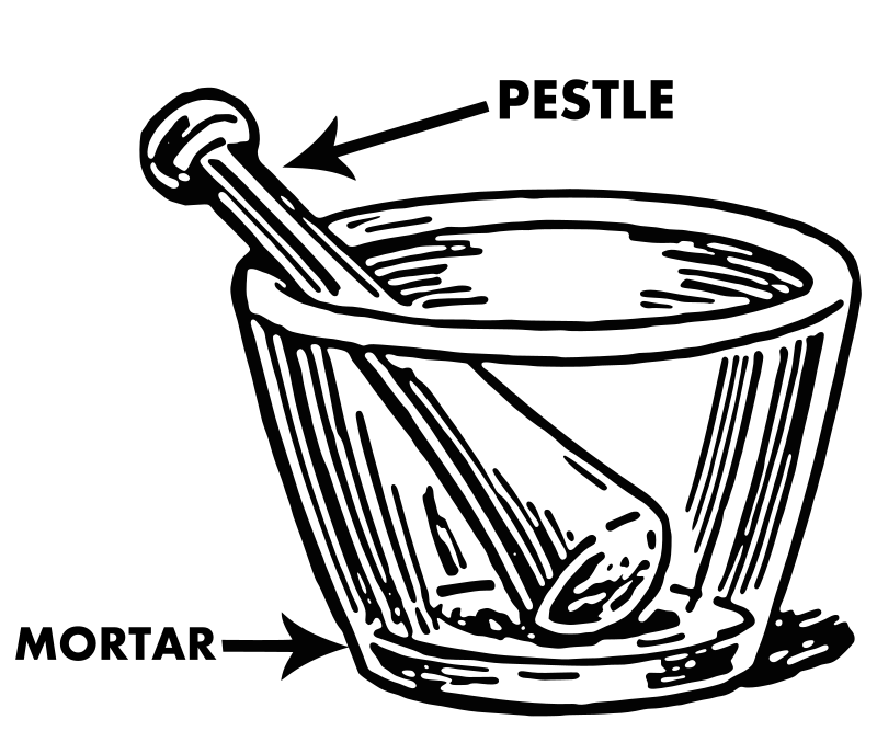 svg library download Medium image png . Mortar and pestle clipart black and white.