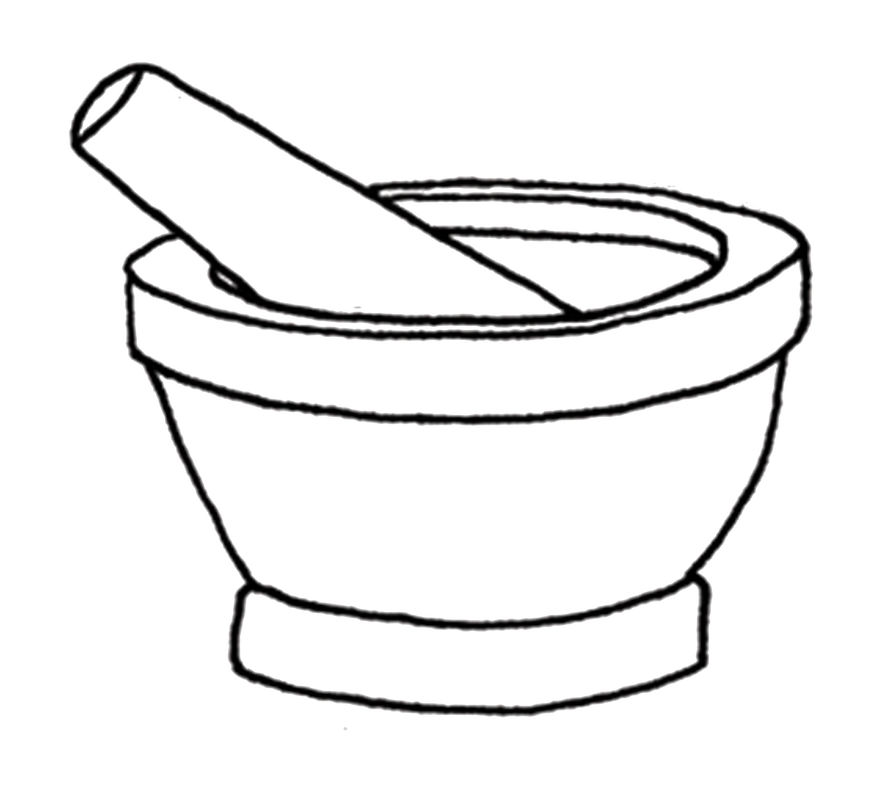svg black and white library Mortar and pestle clipart cartoon. Drawing at getdrawings com.