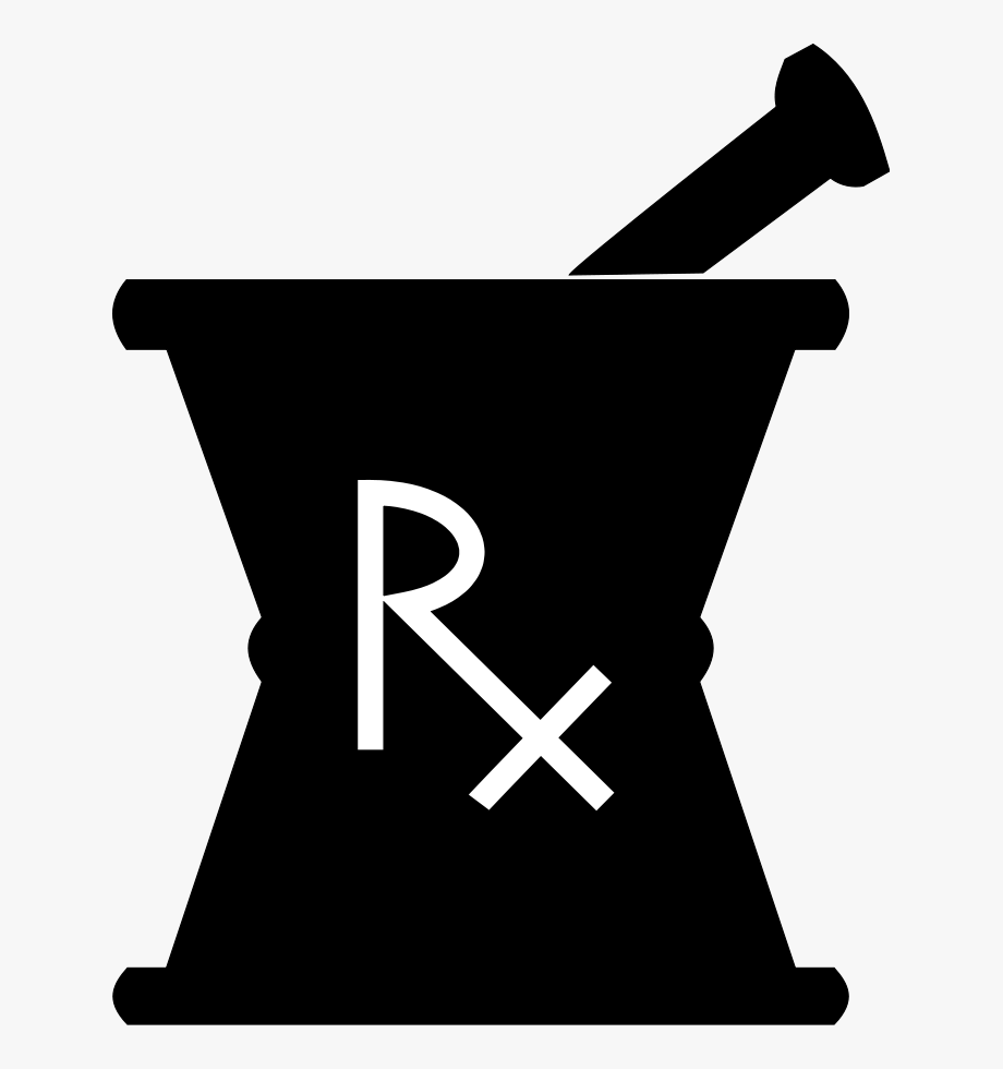 clipart transparent library Mortar and pestle clipart rx logo. Free pharmacy .
