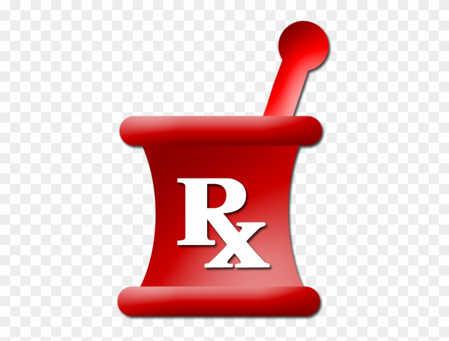free download Symbol red pinclipart . Mortar and pestle clipart rx logo.