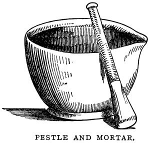 svg black and white library Clip art black white. Mortar and pestle clipart vintage medical.