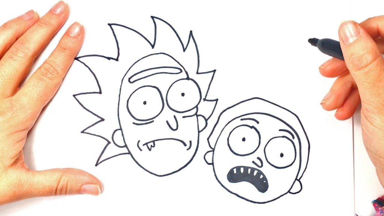 jpg royalty free download How to draw rick. Morty drawing