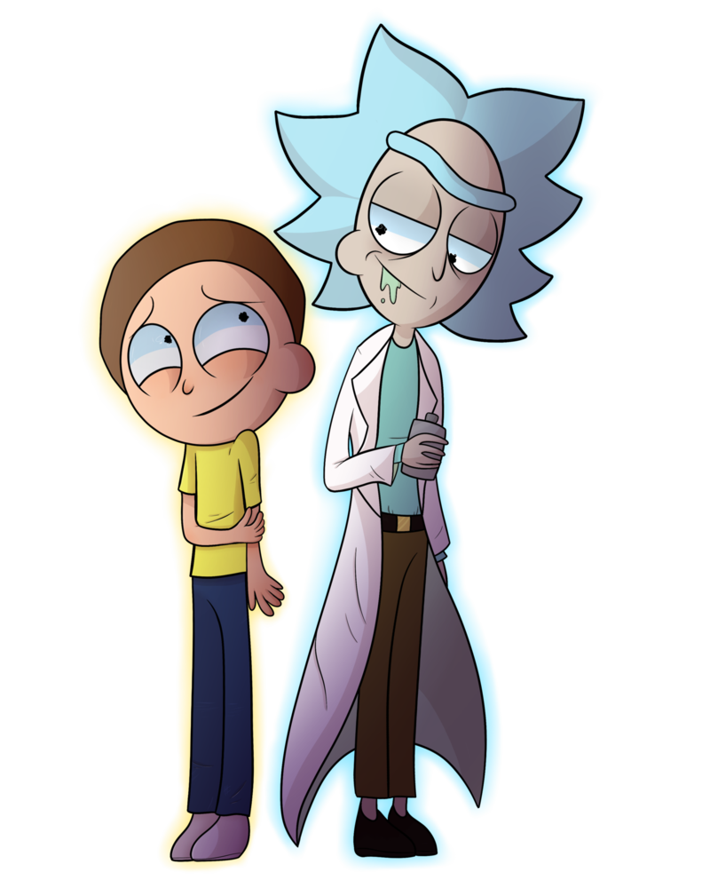 royalty free stock Morty drawing. Rick and by thecutefluffykitten